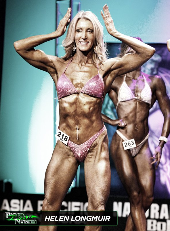 Helen Longmuir Figure and Bikini Champion Team Powerzone Nutrition